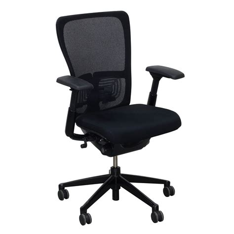 Haworth Chair by Haworth Zody Mesh Back Used Task Chair Black National