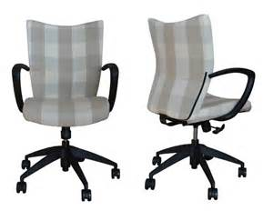 Upholstered Desk Chair Desk Chair Upholstered In Check Fabric Office Chairs