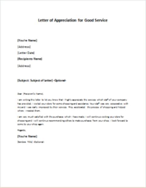 appreciation letter for provided letter of appreciation for service writeletter2