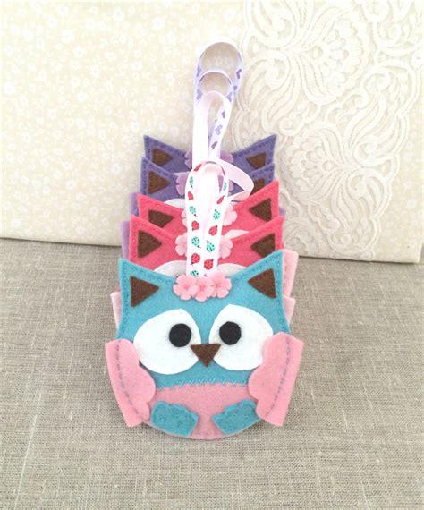 Owl Teh Tarik 20 Sachets lavender owl sachet felt watermelon soft pink ornament decoration plushka design