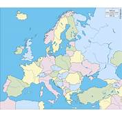 Europe Free Map Blank Outline
