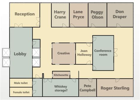 mad men floor plan maps delineation of design page 2