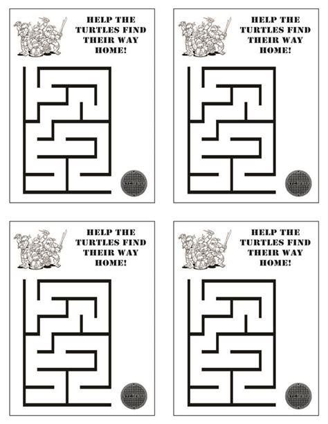 printable turtle maze 506 best images about teenage mutant ninja turtles