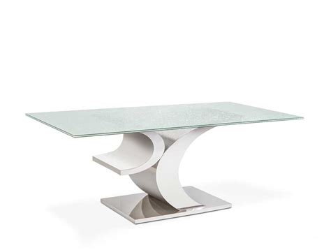 crackle glass dining table crackled glass modern dining table lv06 modern dining