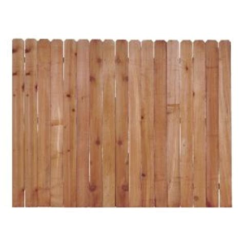 6 ft x 8 ft western cedar ear fence panel 138126
