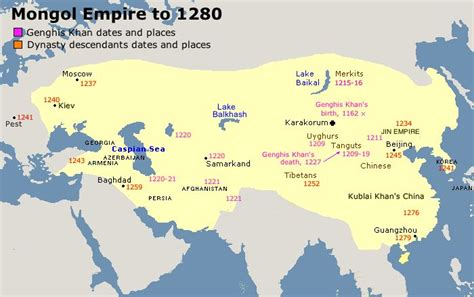mongol empire map mongol empire to 1280 one line about civilization world the o jays genghis khan