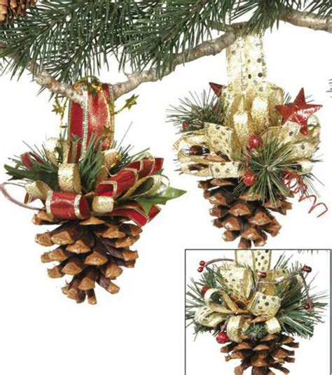 craftdrawer crafts pine cone ornaments for christmas