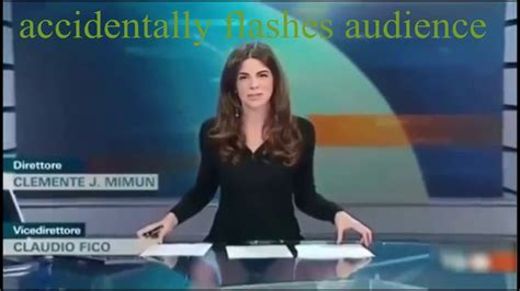 Italian Tv Presenter Costanza Calabrese Accidentally