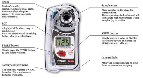 Atago Pal Coffeetds Pocket Coffee Densitometer taller sobre los s 243 lidos solubles de la bebida caf 233