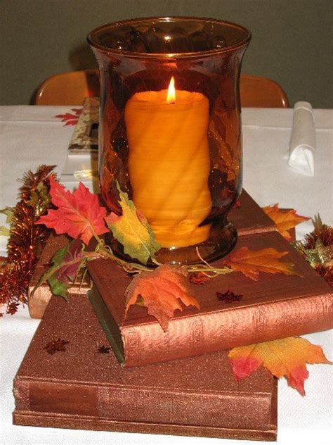 Fall And Book Themed Bridal Shower Chica And Jo Fall Themed Centerpieces