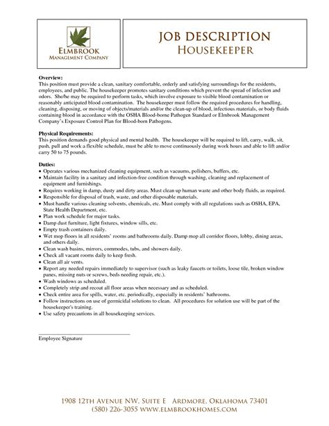 housekeeping resume sample resume for housekeeping job sample resume