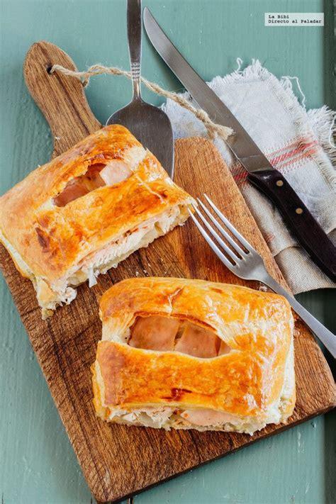cocinar con hojaldre recetas faciles hojaldre de pollo jam 243 n y queso receta cocina