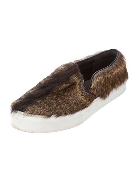 goat slippers c 233 line goat fur slip on sneakers shoes cel52599 the