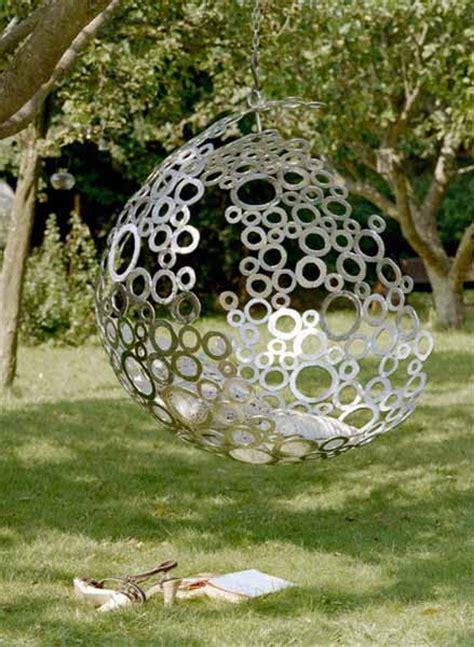 hängesessel outdoor kugel h 228 ngesessel als kreative gartendeko idee freshouse