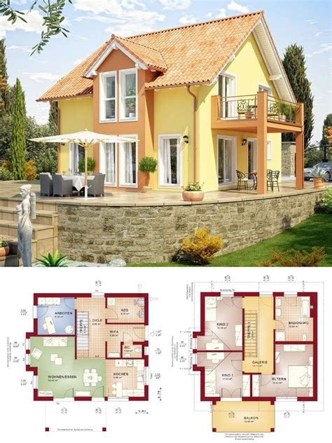 modernes einfamilienhaus im landhausstil mit galerie