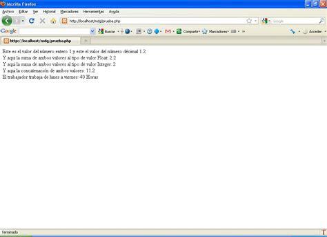tutorial de yii2 estudios php variables constantes y tipos de datos php