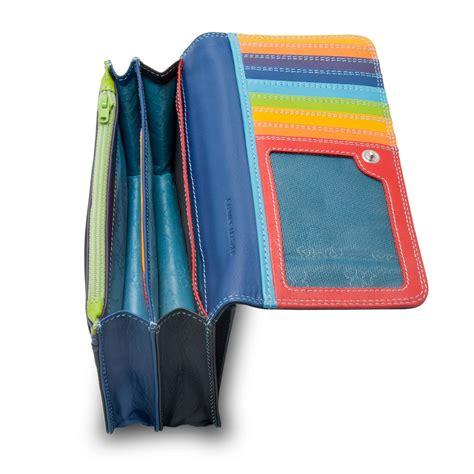 Multi Color Wallet dudu womans leather multi color wallet with flap black