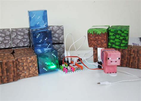 Minecraft Papercraft Snow Biome - rule your minecraft room with littlebits
