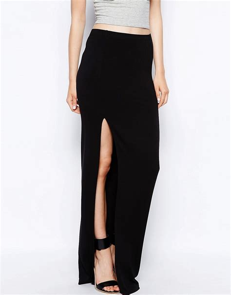 taller than your average ttya maxi skirt with thigh high
