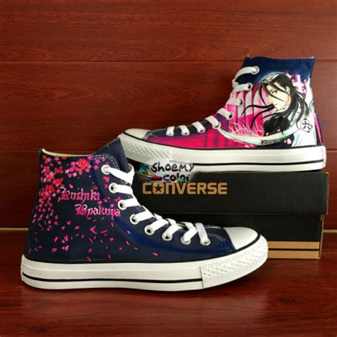 byakuya kuchiki converse shoes painted canvas