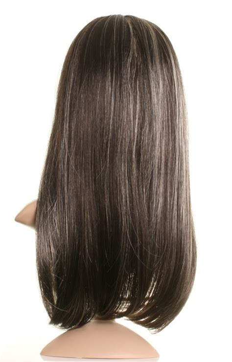 Brown With Blonde Highlights Wig | sugar long dark brown wig with blonde highlights