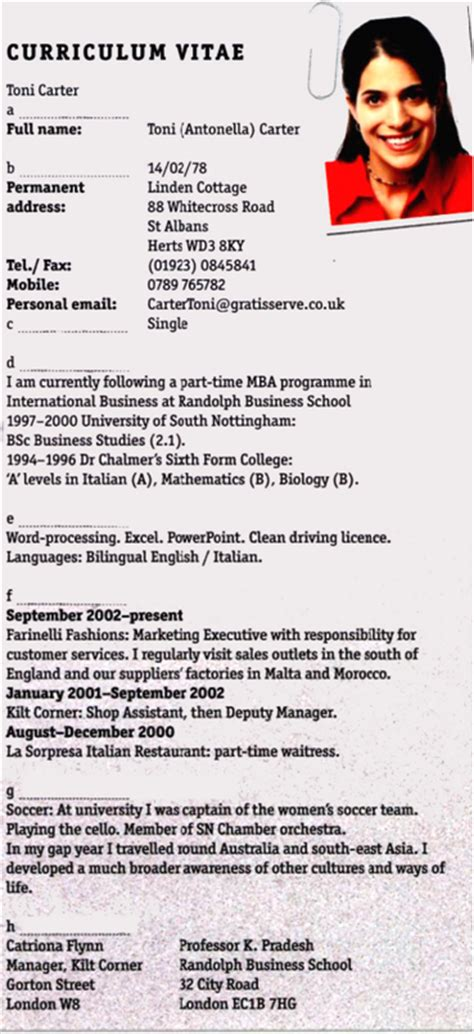 How To Write A Professional Cv by How To Write A Professional Cv Blogher