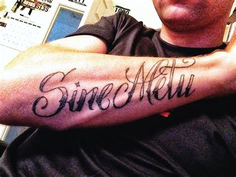 sine metu tattoo sine metu quot without fear quot jamison family motto