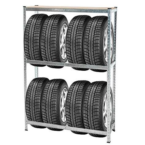 mensole a muro per garage tectake porta pneumatici supporto pneumatico scaffale