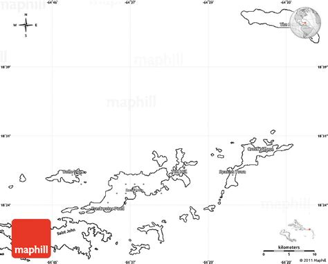 printable map virgin islands blank simple map of british virgin islands
