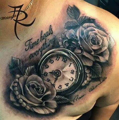 time heals everything tattoo time heals everything clock tattoos