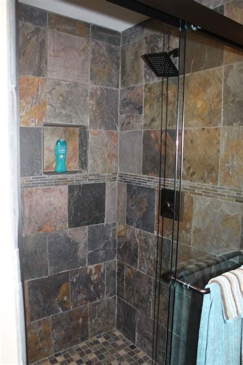 Bathroom Slate Tile Ideas 17 Best Ideas About Slate Shower On Pinterest Slate Bathroom Slate Shower Tile And Shower