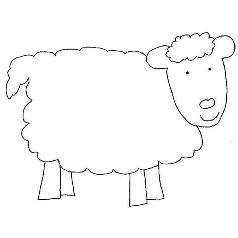 sheep template in like a out like a march craft for preschool