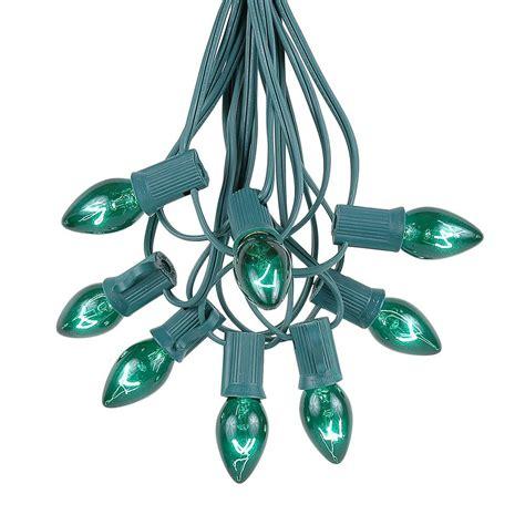 c7 light string green twinkle c7 light set on green wire