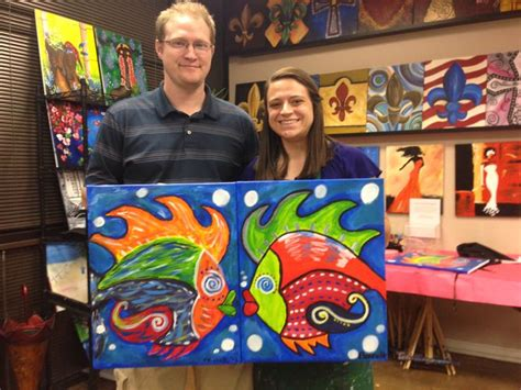 paint nite couples couples painting fish my creations