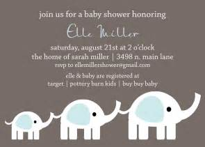 custom elephant baby shower invitation by andreagerigdesigns