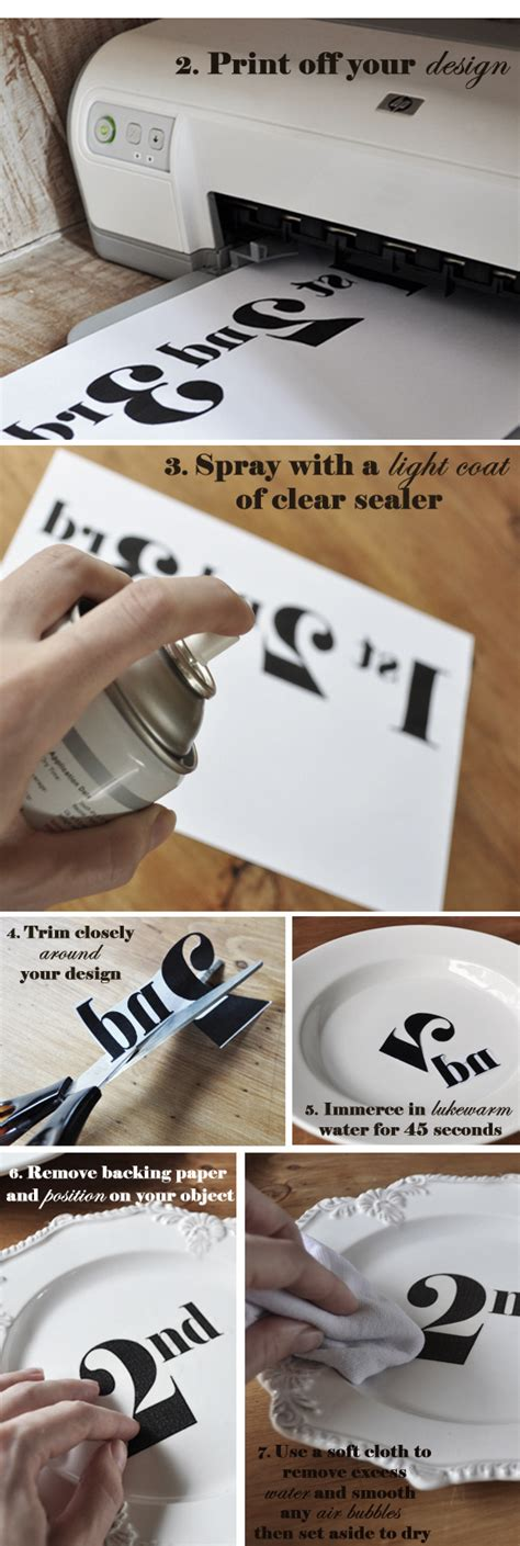 Make Your Own Decal Paper - the painted hive diy transfer decal tutorial
