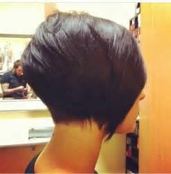 one side stack sassy bob bllack hair 35 short stacked bob hairstyles short hairstyles 2016