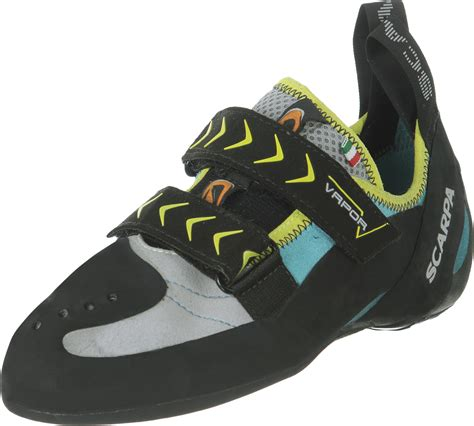 black climbing shoes scarpa vapor v w climbing shoes black grey turquoise