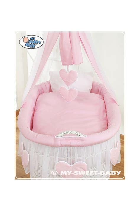 neonato in vimini neonato cuori rosa bianco