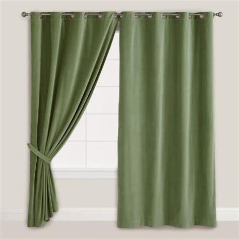 green grommet curtain panels dark green velvet grommet top curtain world market