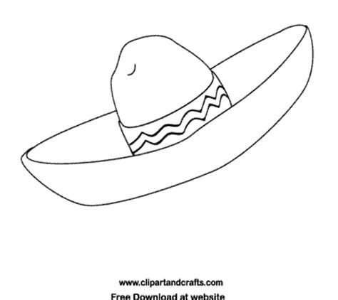 fiesta coloring sombrero mexican hat picture to color
