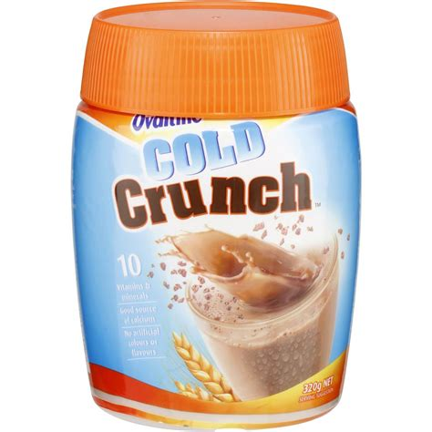 ovaltine chocolate cold crunch 320g woolworths