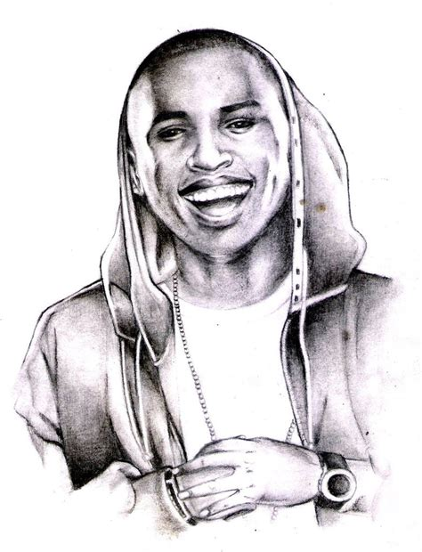 realistic portrait done by chris pencil drawings of chris brown www imgkid the