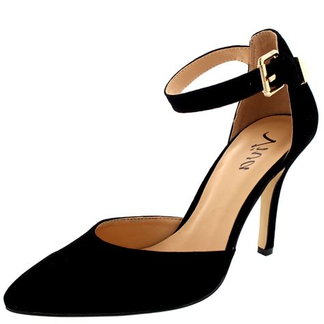 heels shoes for ankle formal dress buckle court shoe evening