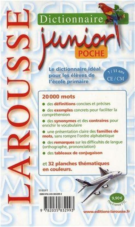 Livre Dictionnaire Larousse Junior Poche 7 11 Ans