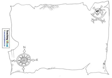 best photos of printable treasure map outline blank