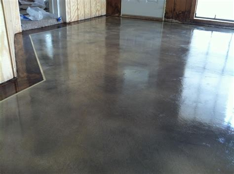 should you stain your concrete floor or epoxy coat it houston concrete staining stained
