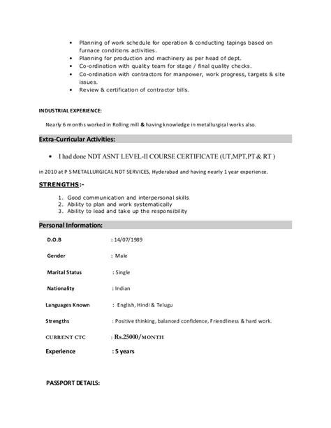 resume of santoshi subramanya swamy