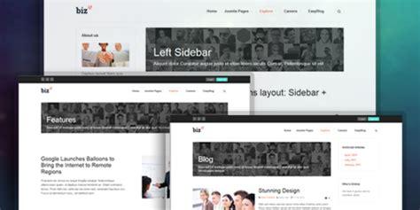 multiple layout joomla template ja biz responsive joomla template for business joomla