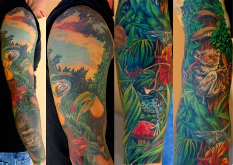 tattoo ideas jungle jungle and sky by jamie schene tattoonow